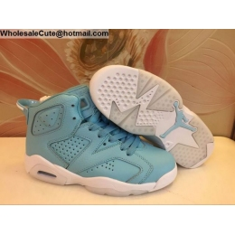 Womens Air Jordan 6 GG Powder Blue
