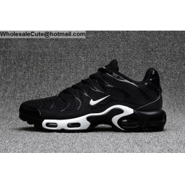 Mens Nike Air Max Plus TN TXT Black White Size US7 - US13