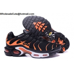 Nike Air Max Plus TN Mens Running Shoes Black Orange
