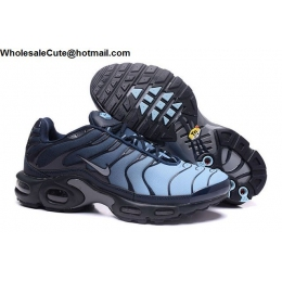 Nike Air Max Plus TN Mens Running Shoes Blue Black
