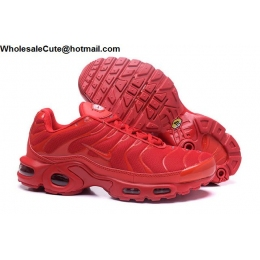 Nike Air Max Plus TN Mens Running Shoes All Red