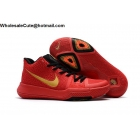 Womens Nike Kyrie 3 Red Gold Black Basketball Shoes