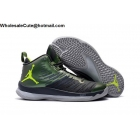 wholesale Jordan Super Fly 5 Black Green Mens Basketball Shoes