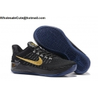 wholesale Womens Nike Kobe AD Flyknit Black Gold Basketball Shoes