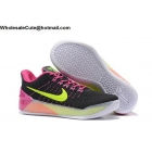 wholesale Womens Nike Kobe AD Flyknit Black Volt Pink Basketball Shoes