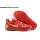 wholesale Womens Nike Kobe AD EP Red Gold Basketball Shoes