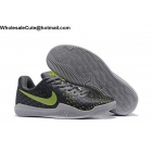 wholesale Womens Nike Kobe Mentality 3 Grey Volt Basketball Shoes