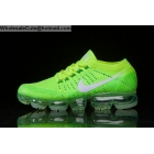 wholesale Mens & Womens Nike Air VaporMax Flyknit Green Volt White