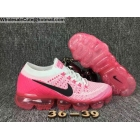 Womens Nike Air VaporMax White Pink Running Shoes