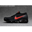 Mens & Womens Nike Air VaporMax Flyknit Black Red