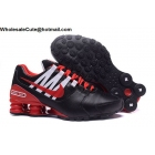 Nike Shox Avenue Black Red White Mens Running Shoes