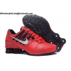 wholesale Nike Shox Avenue Red Black Silver Mens Running Shoes