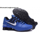 Nike Shox Avenue Blue Black White Mens Running Shoes