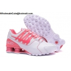 wholesale Womens Nike Shox Avenue White Pink Running Shoes