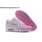 Womens Nike Air Max 90 Premium SE White Pink