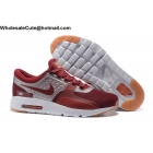 wholesale Mens Nike Air Max Zero QS Wine Red Silver White