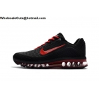 wholesale Mens & Womens Nike Air Max 2017.8 Black Red Running Shoes