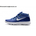 wholesale Nike Flyknit Chukka  Mens Golf Shoes Blue White