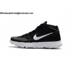 Nike Flyknit Chukka Mens Golf Shoes Black White