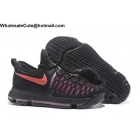 wholesale Nike KD 9 Aunt Pearl Mens Basketball Shoes Black Red