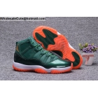 Air Jordan 11 Miami Hurricanes PE Mens Basketball Shoes Green