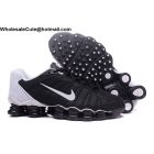 wholesale Nike Shox TLX Mens Running Shoes Black White