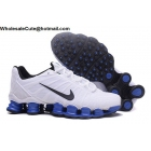wholesale Nike Shox TLX Mens Running Shoes White Blue Black