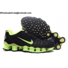 wholesale Nike Shox TLX Mens Running Shoes Black Green