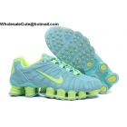 wholesale Womens Nike Shox TLX Cyan Volt Running Shoes