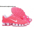 Womens Nike Shox TLX Running Shoes Pink White