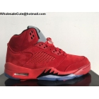 Air Jordan 5 Red Suede Mens Basketball Shoes