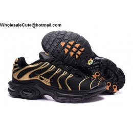 Nike Air Max Plus TN Mens Trainer Black Gold