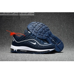 Supreme Nike Air Max 98 Mens Running Shoes Dark Blue White