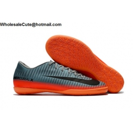 Mens Nike Mercurical Victory VI CR7 IC Grey Black Orange