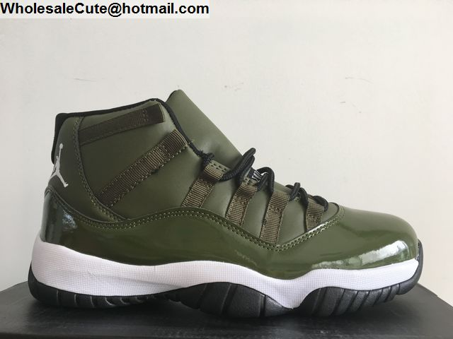 new style cb3f1 88538 Air Jordan 11 Mens Basketball Shoes Olive Green -14844 ...
