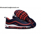 wholesale Nike Air Max 97 Mens Running Shoes Dark Blue Red