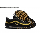 wholesale Nike Air Max 97 Mens Running Shoes Black Gold