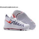 wholesale Nike Zoom KD 9 Elite Mens Basketball Shoes White Red Navy