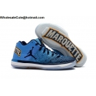 Mens Air Jordan XXXI 31 Low Marquette PE Blue Navy Gold