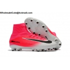 wholesale Mens & Womens Nike Mercurial Superfly V AG Pink White Cleats