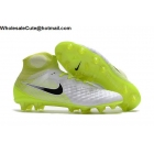 wholesale Mens Nike Magista Obra II FG White Volt Black