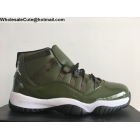 wholesale Air Jordan 11 Mens Basketball Shoes Olive Green