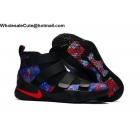 wholesale Mens Nike LeBron Soldier 11 Black Multi Color