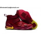 wholesale Mens Nike LeBron Soldier 11 Cavs Brown Yellow