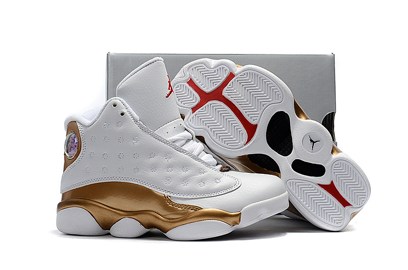 5c782b6d9d05 Kids Air Jordan 13 DMP White Gold -14878 - Wholesale Sneakers