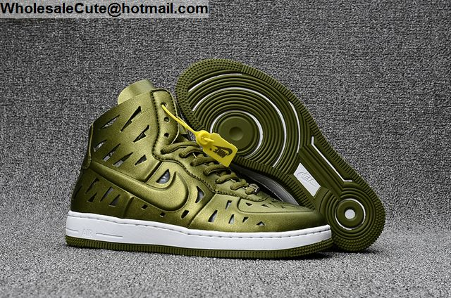 online store 6de9e 6f4fd Mens   Womens Nike Air Ultra Force Mid Joli Army Green White AF1 shoes