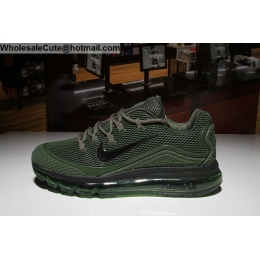 Nike Air Max 2018 Elite Army Mens Running Shoes Green Black