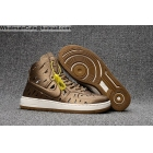 wholesale Mens & Womens Nike Air Ultra Force Mid Joli Metallic Gold White AF1 shoes