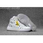 wholesale Mens & Womens Nike Air Ultra Force Mid Joli All White AF1 shoes