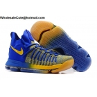 wholesale Nike Zoom KD 9 Elite Mens Basketball Shoes Blue Yellow